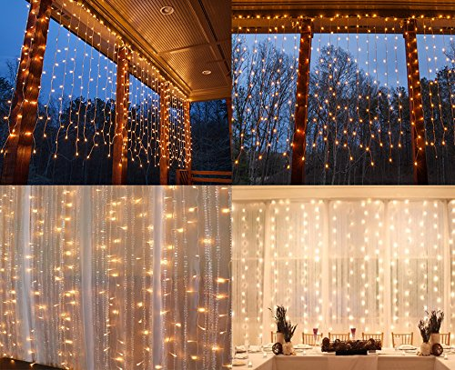 300 Led Icicle Fairy Twinkle Starry Lights Indoor Outdoor Christmas Decoration