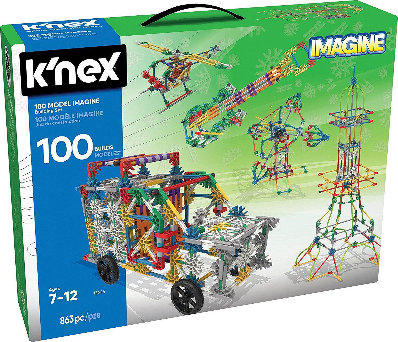 K Nex 100 Model Building Set 863 Pieces Ages 7