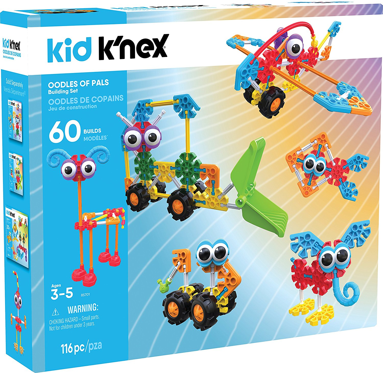 Kid Knex Oodles Of Pals Building Set 115 Pieces Wholestuff