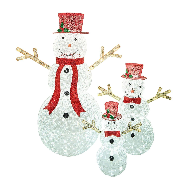 Sams Christmas Trees: 3pc LED Christmas Holiday Lighted Random Twinkling Snowman