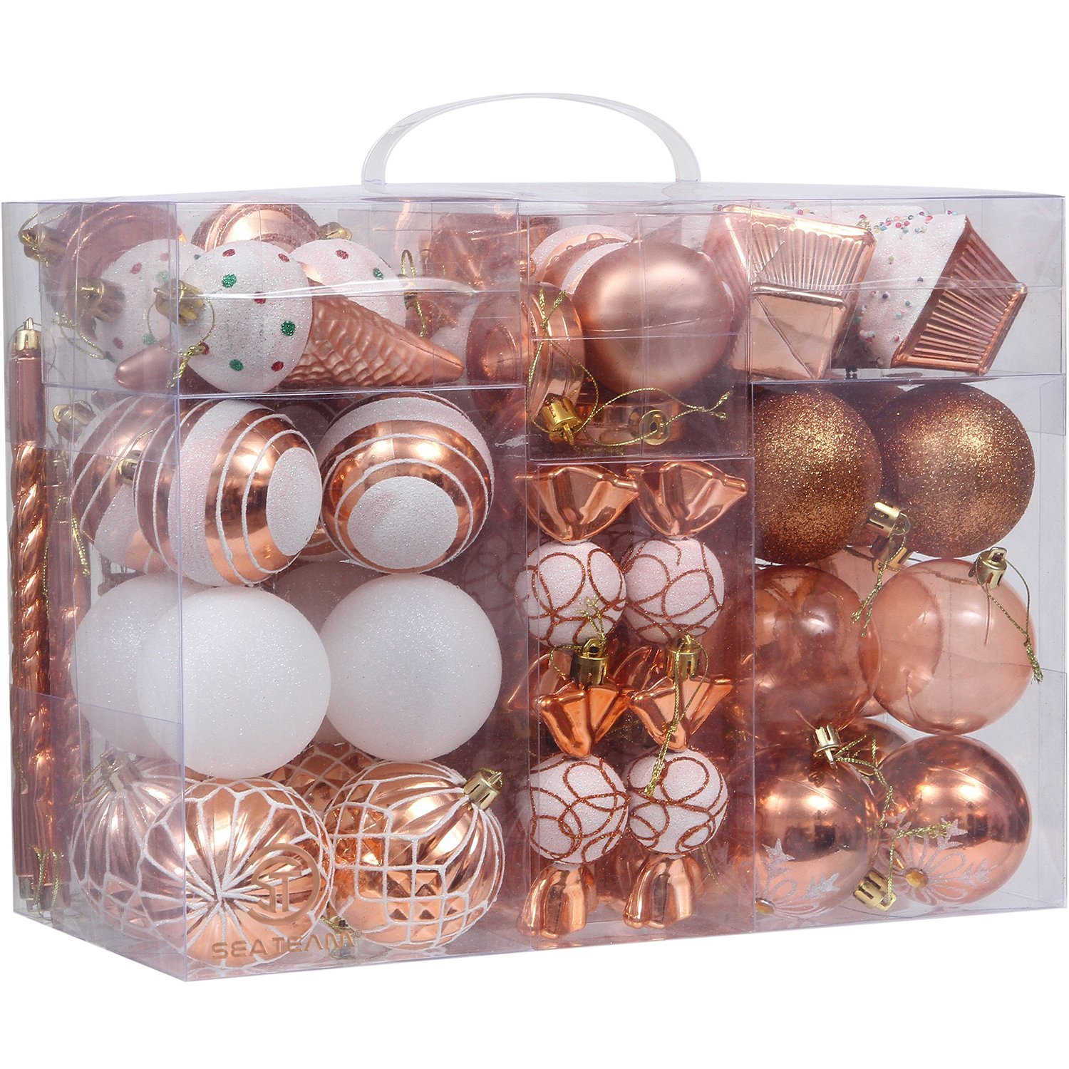 Decorative Christmas Ball Ornaments: ASSORTED SHATTERPROOF CHRISTMAS BALL ORNAMENTS SET