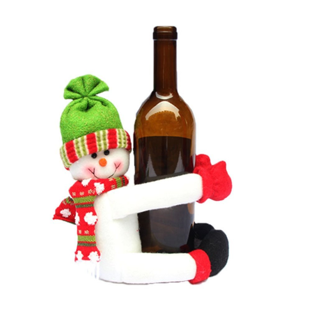 Bottle Christmas Decoration: 2 Pcs Wine Bottle Hold Cover Christmas Table Decoration
