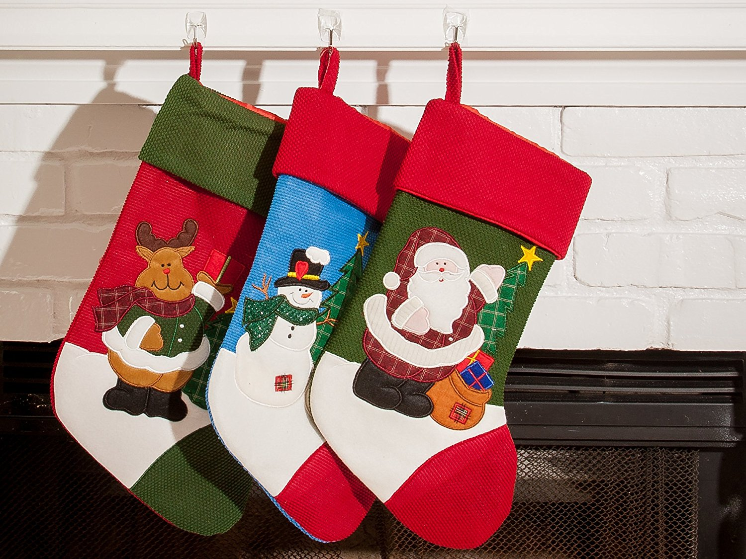 3 Pcs Set Classic Christmas Stockings 18 Quot Cute Santa S