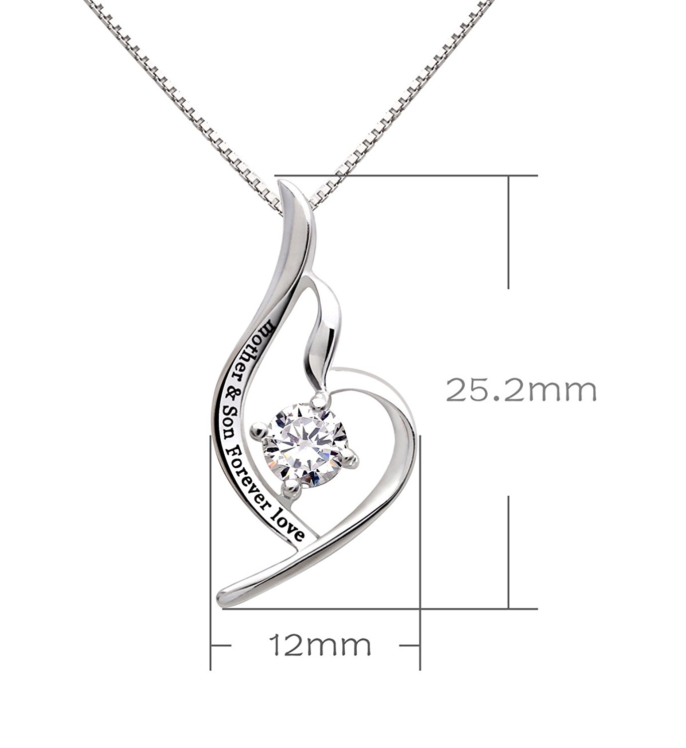 Alov jewelry sterling silver mother son forever love pendant alov jewelry sterling silver mother son forever love pendant necklace aloadofball Image collections